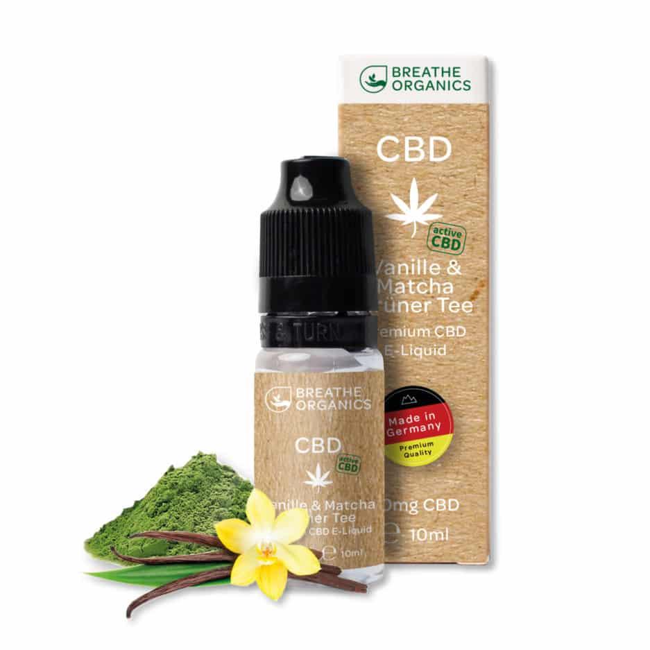 Liquide CBD Premium Active thé vert matcha à la vanille